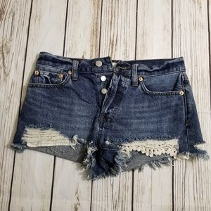 We the free distressed short